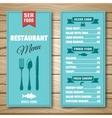 Seafood Restaurant Menu vector image vector image