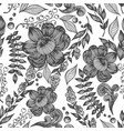 seamless pattern with flowers leaves and vector image