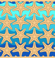 seamless pattern with starfish on a background vector image vector image