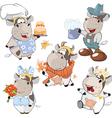 Set of Cartoon Cute Cow vector image vector image