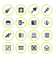 Set round icons of repair and building vector image vector image