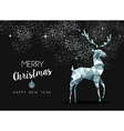 Silver greeting card for christmas with deer vector image vector image