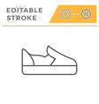 slip-on shoe editable stroke line outline icon vector image vector image
