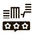 smart city eco lightbulb icon glyph vector image vector image
