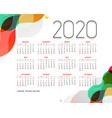 stylish modern 2020 calendar design template