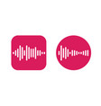 two icons design with waves equalizer eq vector image