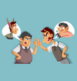 two men in an argument insulting each other vector image vector image