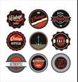 vintage labels black and red set 1 vector image vector image