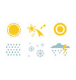 weather and nature symbols set sun star snow vector image vector image
