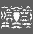 white paper cut style mustache and beard vector image