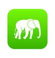 wild elephant icon digital green vector image