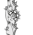 Abstract lace with elements of butterfly and vector image