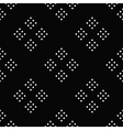 Seamless pattern black and white abstract circle vector image