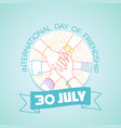 30 july international day of friendship vector image vector image
