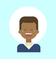 african american male cry emotion profile icon vector image vector image