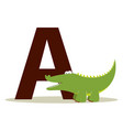 alligator alphabet vector image