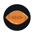american football ball sport equipment block vector image