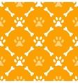 animal seamless pattern of paw footprint and bone