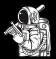 astronaut handling gun hand drawingshirt designs vector image vector image