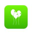 balloons icon digital green vector image vector image