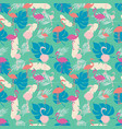bright tropical summer seamless pattern with vector image vector image