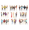 business teams cartoon style set vector image vector image