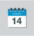 calendar icon day 14 august date days year