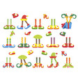 christmas elf feet and legs set decoration for vector image vector image