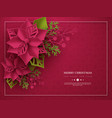 christmas holiday banner 3d paper cut style vector image vector image