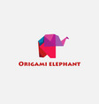 color of origami elephant vector image