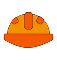 construction helmet design vector image vector image