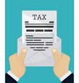 Document icon Tax and Financial item vector image vector image