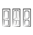 doors vector image
