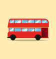 double decker bus flat design vector image