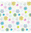 floral pattern background with flowers and leaves vector image