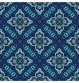 Flower Pattern Blue Weave vector image