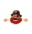 funny cartoon pirate character laughing sticking vector image