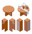 furniture collection with decorated hotel vector image