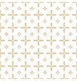 gold and white pattern ggeometric seamless vector image vector image