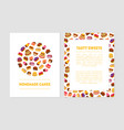 homemade cake tasty sweets banner templates with vector image
