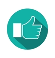 icon hand like green with shadow vector image