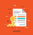 invoice flat concept vector image vector image