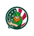 irish-american mechanic usa flag icon vector image vector image