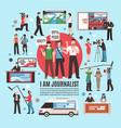 journalist profession composition vector image