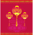 lanterns will bring good luck and peace to prayer vector image vector image