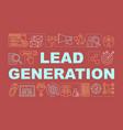 lead generation word concepts banner digital vector image vector image