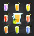 lemon and lime lemonade background vector image vector image