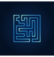 Line maze blue icon vector image vector image