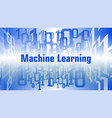 machine learning concept abstract binary code vector image vector image