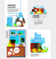 magic chemistry posters set vector image vector image